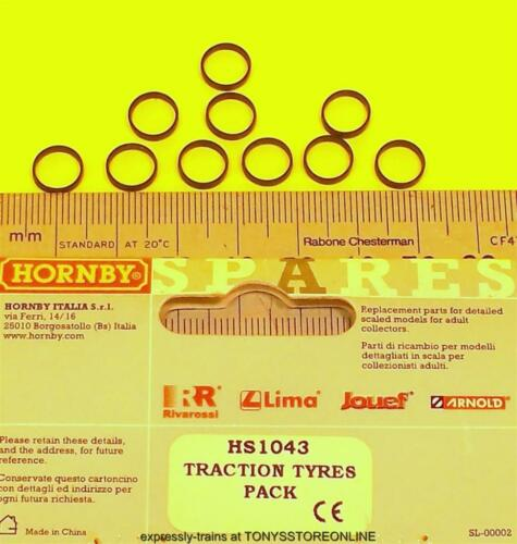 hornby international ho spares hs1043 1x pack 10 traction tyres for hl2001 7mm