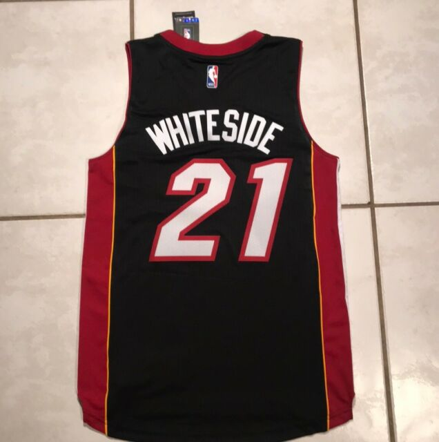 CCKWX Mens Jersey,Miami Heat #21 Hassan Whiteside Vintage Jersey,Cool Breathable Fabric Mens Jersey Womens Jersey Basketball T-Shirt,Pink,S:170cm//50~65kg