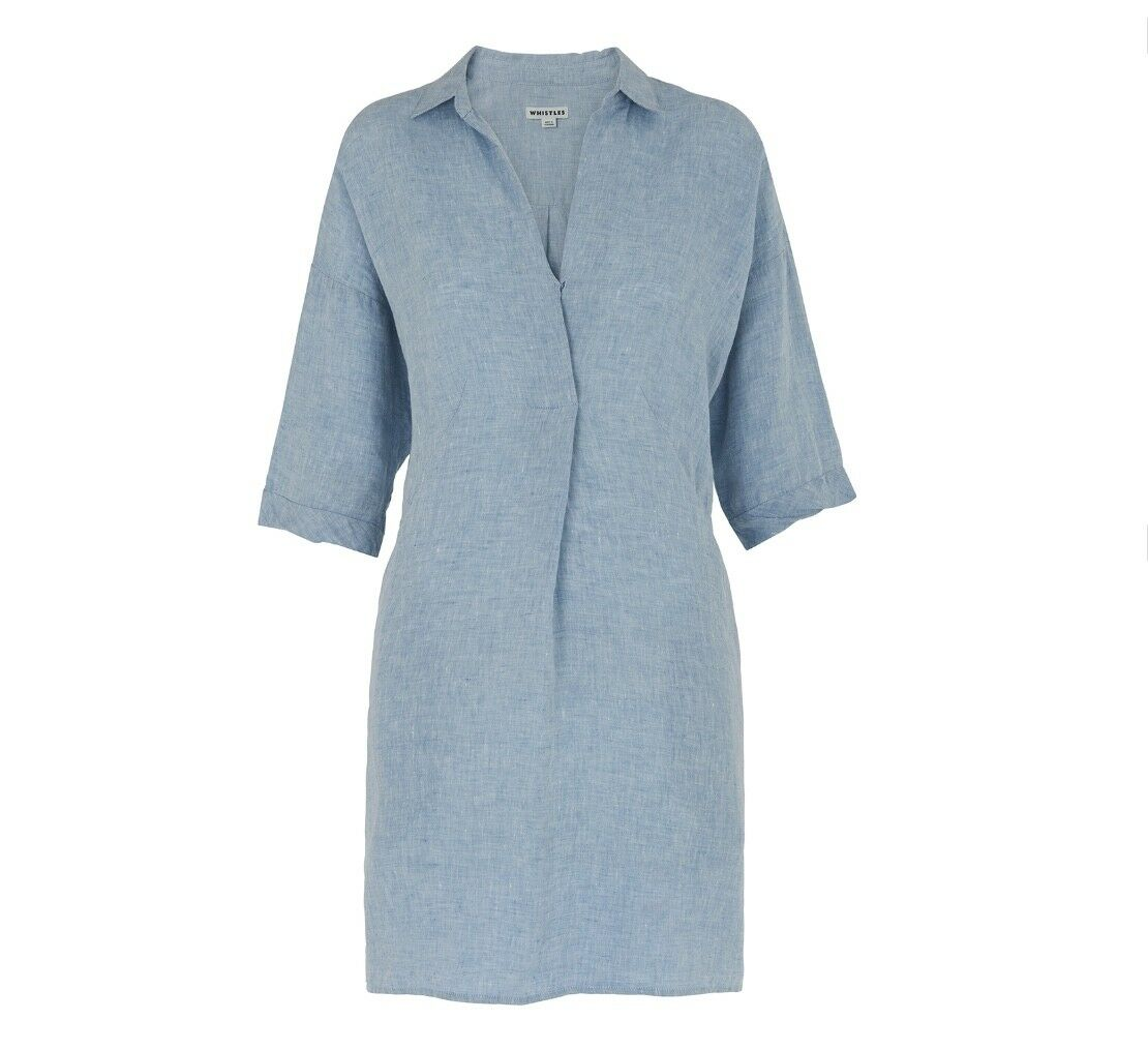 Sifflets-lin Lola Robe-Neuf avec étiquette-Poches Taille S 8 10 - Femme robe