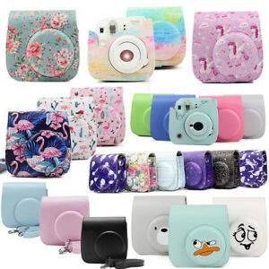 Fujifilm-Instax-Mini-8-9-Film-Instant-Camera-Flamingo-Bag-PU-Leather-Cover-Case