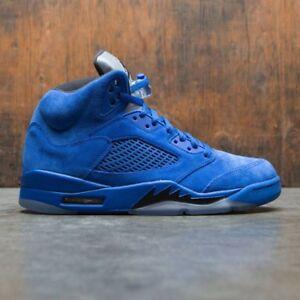 Details about 2017 Nike Air Jordan 5 V Retro Blue Suede Size 10. 136027-401 34d7db3f3