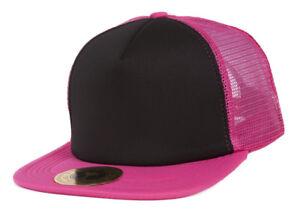 TopHeadwear-Adjustable-Trucker-Caps-Hot-Pink-Black