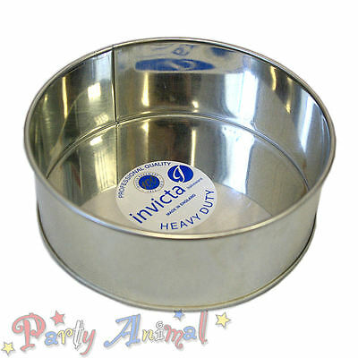 """Invicta 9"""" Inch Round High Quality Professional Cake Tin Pans / Bakeware Tins"""