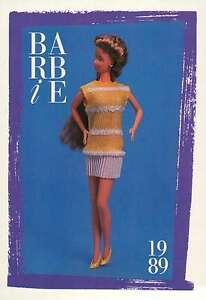 "Barbie Collectible Fashion Trading Card  /"" Barbie Paris Pretty Fashions /""  1989"