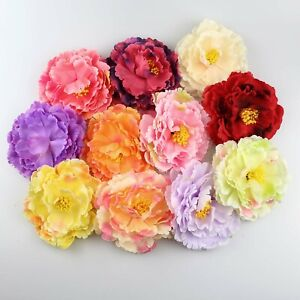 50X-12cm-Peony-Artificial-Silk-Fake-Flowers-Carnation-Flowers-Heads-Wedding-Deco