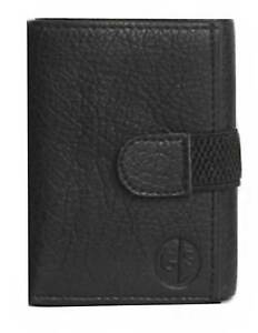 Faux-Leather-Tri-Fold-Money-Wallet-Purse-for-Men-Gents-with-Card-Slots-Black