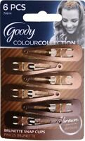 Goody Colour Collection Contour Hair Clips, Brunette,  6 Clips