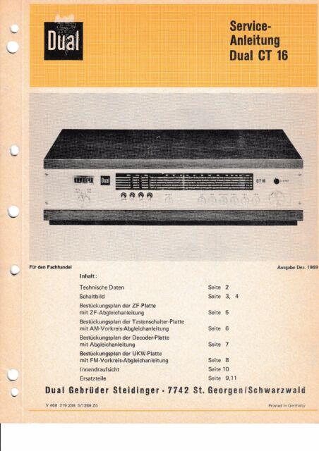 Service Manual-Anleitung für Dual CT 1640