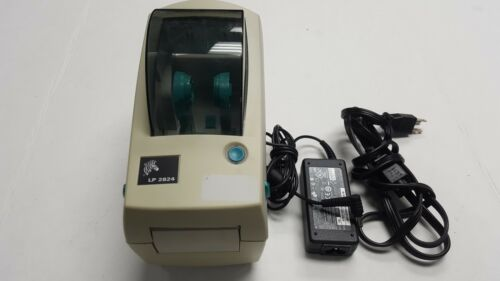 Zebra LP 2824 Label Thermal Printer Parallel with power adapter no USB port TEST