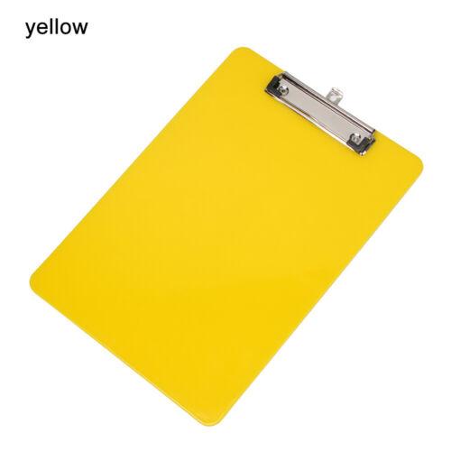 Coloured Plastic Storage Folder Boards Clipboards Writing Board Multi-Function