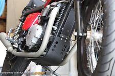 Engine Skid Bash Plate + Oil Cooler Guard Bonneville Thruxton Scrambler BLACK