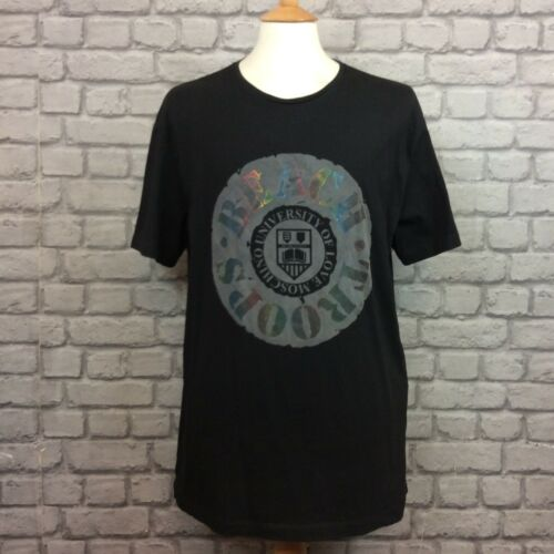 LOVE MOSCHINO MENS XXL BLACK UNIVERSITY TSHIRT DESIGNER SUMMER RRP 110