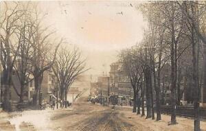 Haverhill MA Washington Street Old View Postcard