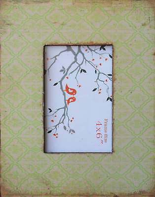 "Tuscan  style  Warm  green Wood  Photo Frame   (  6 ""  x  4 ""  )  BRAND NEW"