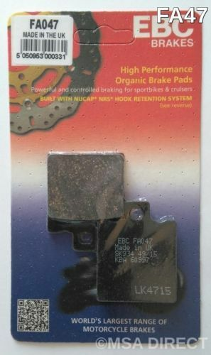 Aprilia RS125 (1992 to 2005) EBC Organic REAR Disc Brake Pads (FA47) (1 Set)