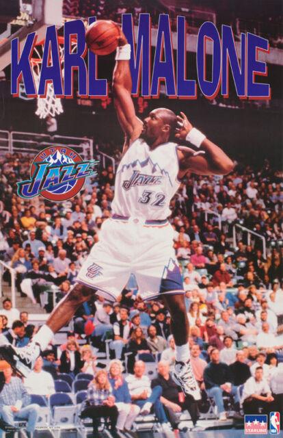 cd386b8f3a0445 Poster NBA Basketball Karl Malone Utah Jazz - #3077 Rc34 F for sale ...