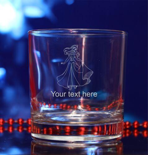 cadeau de noël #160 Personnalisé disney princesse aurora verre gravé anniversaire
