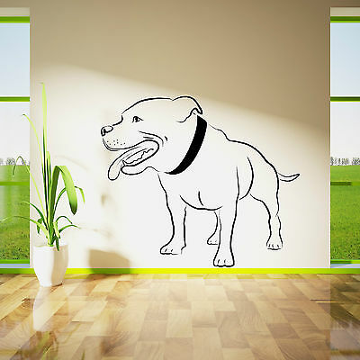 STAFFORDSHIRE BULL TERRIER DOG WALL ART vinyl room sticker decal animal theme