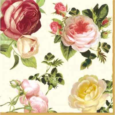 20 Paper Napkins ROSALIA - SHABBY CHIC DECOUPAGE VINTAGE - Pink Roses