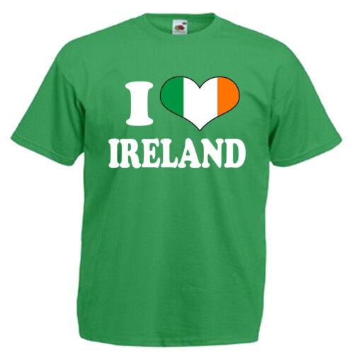 I Love Heart Ireland Children/'s Kids T Shirt