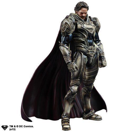 Square Enix Man of Steel Play Arts Kai Jor-El Figure NEW from Japan