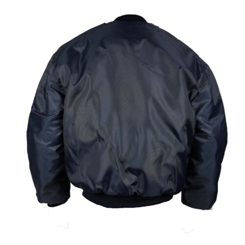 CLASSIC MA-1 FLIGHT JACKET US PILOT BOMBER MENS AIRFORCE BIKER SECURITY S-5XL
