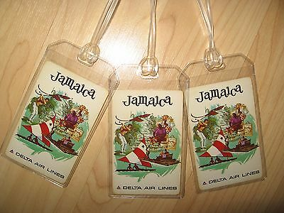 Delta Airlines Jamaica Luggage Tags - Vintage DL DAL Playing Card Name Tag (3)