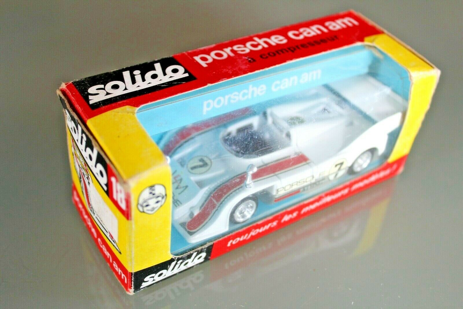 Felices compras Coche Solido Solido Solido Porsche 917 10 TC Can Am Caja Original Ref 18 Años 1973  calidad de primera clase