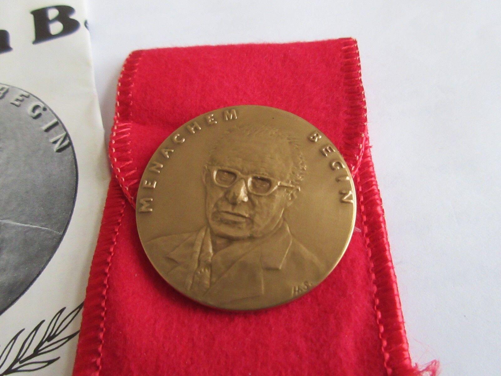 Israel , Menachem Begin , Bronze Medal , Man Of The Yea