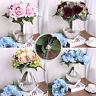 1-2Bunch Vivid Rose Hydrangea Silk Cloth Flower Wedding Home Decor Bride Bouquet