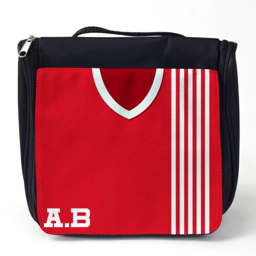 Retro Football Shirt Wash Bag Hanging Toiletry Vintage Personalised ALL TEAMS
