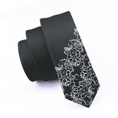 E-204  Janson&Vogue men tie Skinny Slim tie Silk Tie narrow Bussiness Black tie