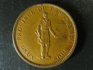 LC-9A2-One-Penny-token-Deux-sous-1837-Bas-Lower-Canada-City-Bank-Breton-521