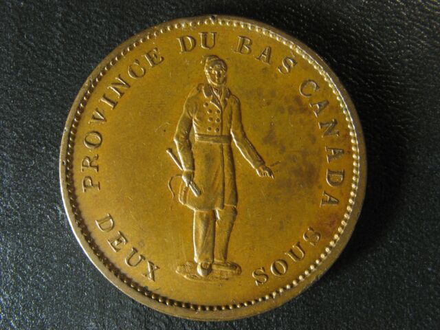LC-9A2 One Penny token Deux sous 1837 Bas Lower Canada City Bank Breton 521