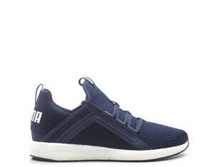 Dettagli su Scarpe PUMA Uomo Sneakers BLU PU,Tessuto 190368 004