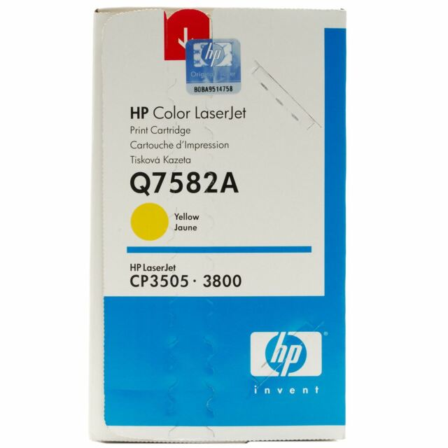 Original Hp Toner Q7582A 503A Yellow CP3505 3800 New A-Grade