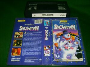 SNOWMAN-Rare-Australian-Good-Times-Issue-Classic-Animated-Adventure-Story