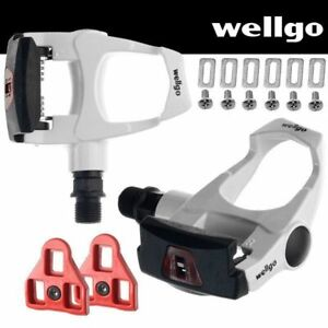 Repacked-Wellgo-Road-Bike-Pedals-Look-ARC-Compatible-with-Cleats-White