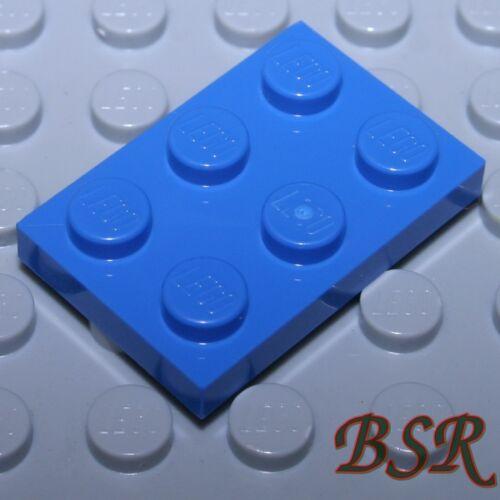 Plättchen in blau 3021 unbespielt SK101 25 Stück blaue 1/3 Steine 2x3 Platten