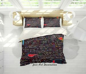 3D-Blackboard-Math-Problems-Quilt-Cover-Duvet-Cover-Comforter-Cover-Single-1