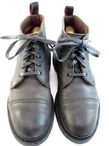 """Allen Edmonds """"PATTON"""" Cap-Toe Boots with Dainite Soles 8 D Grey  (553)"""