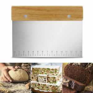 Stainless Steel Dough Scraper Cutter Flour Pastry Pizza Bread Cake Baking Tool ❤