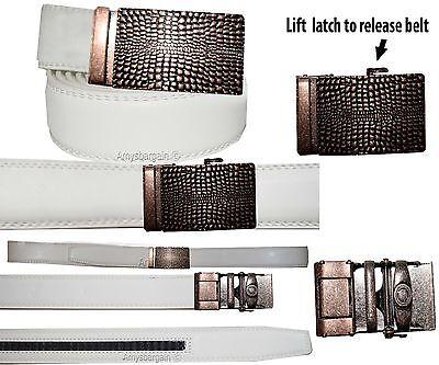 2019 Moda Vera Pelle Da Uomo Cintura (s) Automatico Lock. Abito & Casual Alla Moda Nuove Varietà Sono Introdotte Una Dopo L'Altra