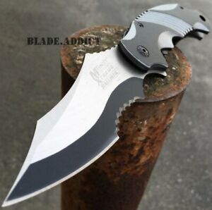 M-TECH EXTREME Military Tactical Spring Assisted Open Folding Pocket Knife Blade