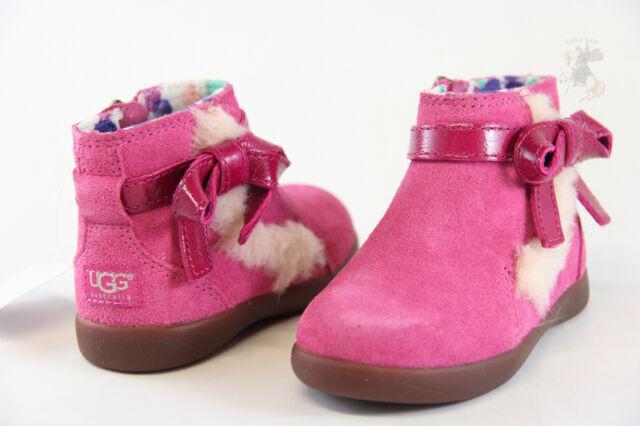 Toddler UGG Australia Libbie 1005151T Raspberry Suede 100% Authentic Brand New