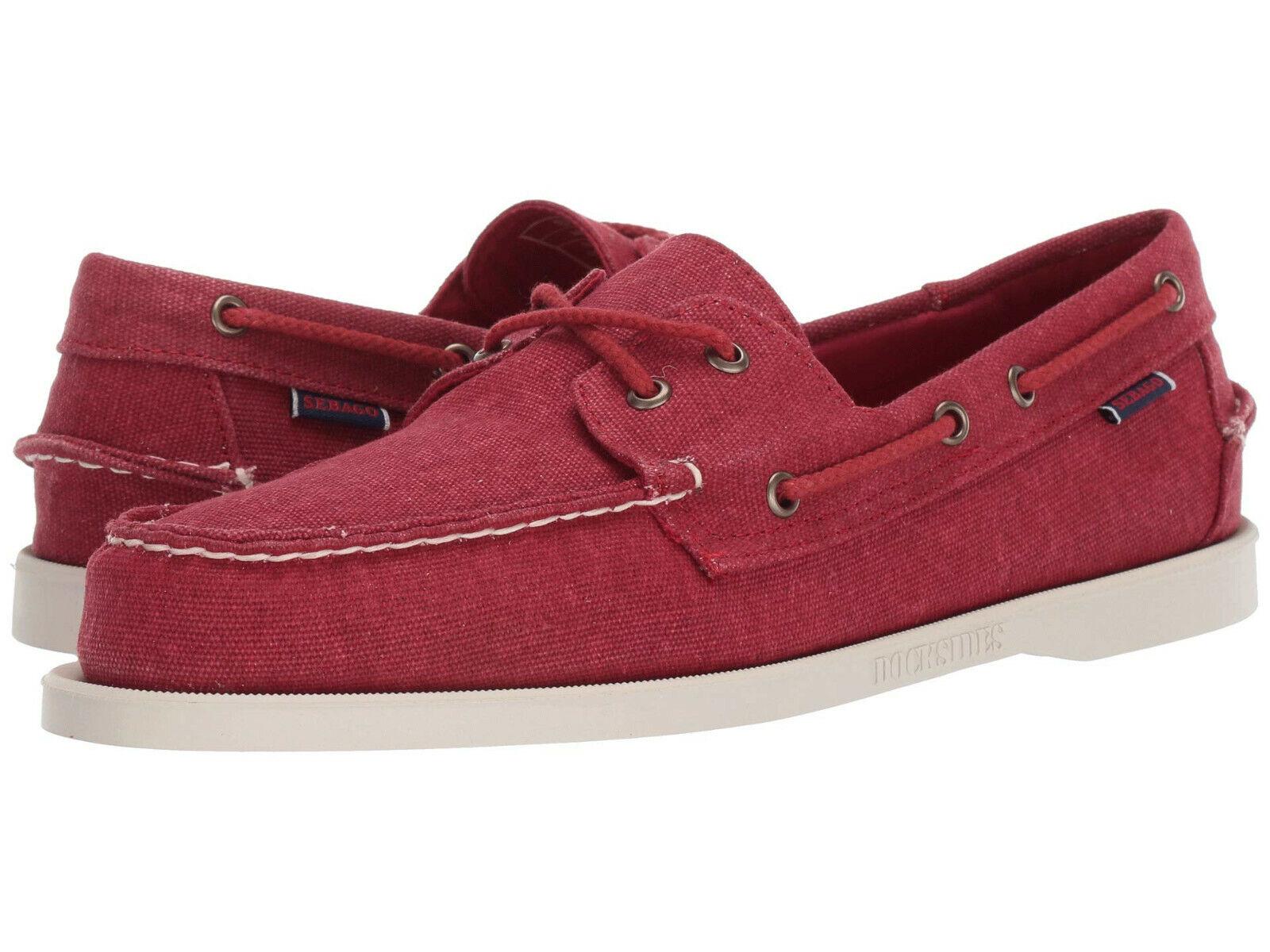 Sebago Women's Spinnaker Boat Shoes Red