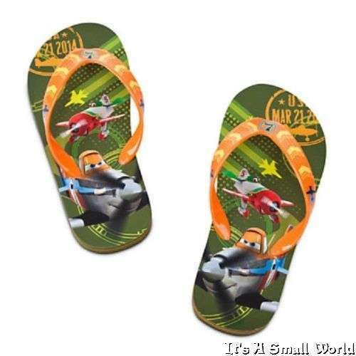 Disney Store Planes Flip Flops Boys Green Dusty Chupacabra 9 10 11 12 13 1 NWT