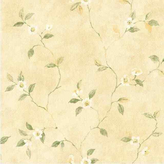 Vintage Look Flowering Dogwood Branches Wallpaper  RL9562