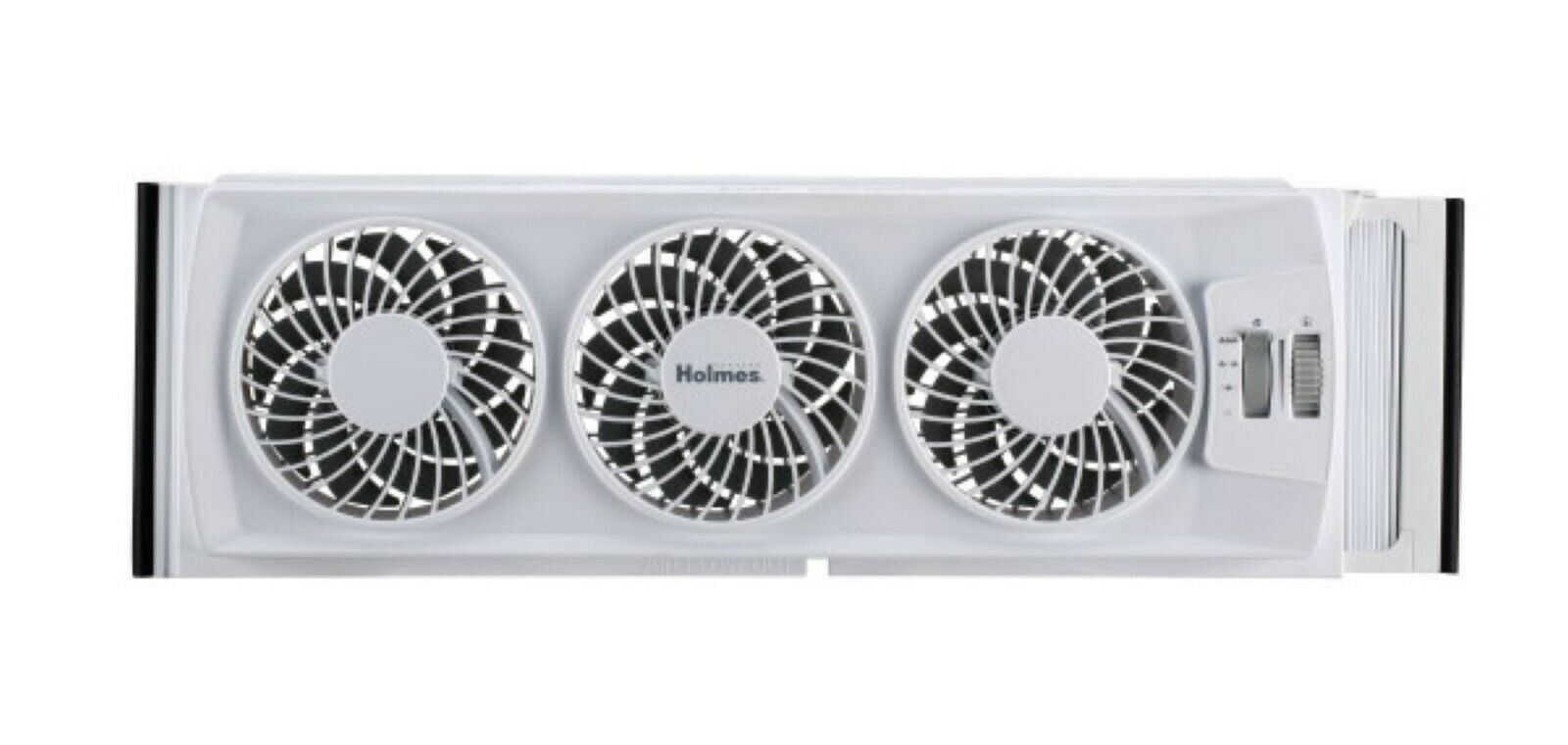Dual Window fan In Home Slim Box Bathroom Bedroom Fits Sliding /& Double Hung