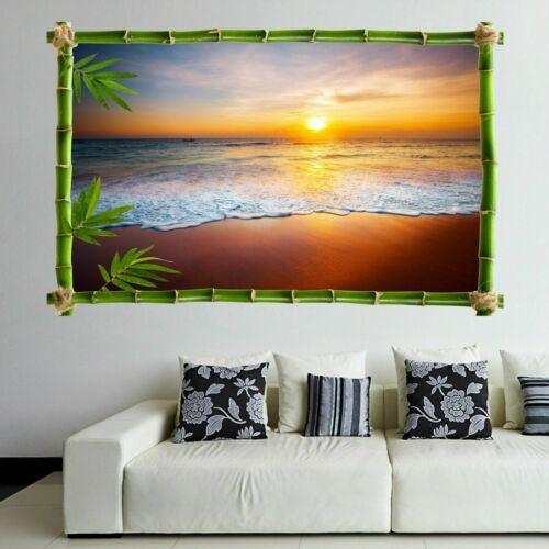 Sunset Beach Sea Wall Art Autocollant Mural Décalque Imprimé Home Office Decor HD4